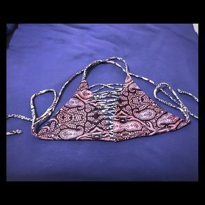 Gypsy bathing suit top. Size XS. Paisley pattern.